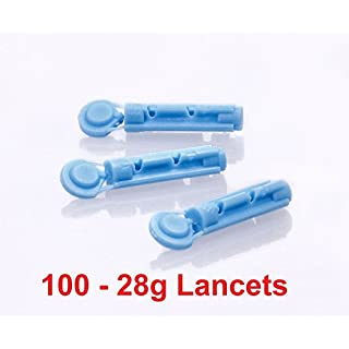 One Step 28G Manufacturer Confirmed Fully Compatible Lancets for PiC Indolor, Microlet, Freestyle, Abbott, One Touch , SD and many more x 100
