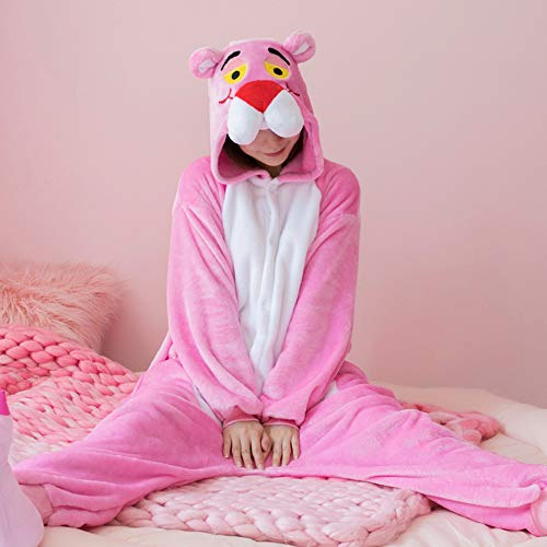 WANLN Tier Cosplay Kostüm Pink Gloomy Bear Cartoon Pyjamas Halloween Siamese Pyjamas Tier Cartoon Plüsch,Rosa,M (Für Erwachsene Rosa Krankenschwester Kostüm)