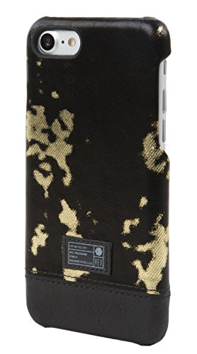 Hex Cell Phone Case for iPhone 7 - Black/Gold Leather