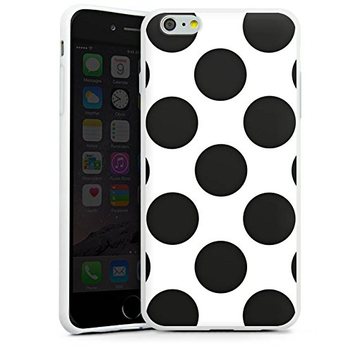 Apple iPhone X Silikon Hülle Case Schutzhülle Punkte Dots Rockabilly Silikon Case weiß
