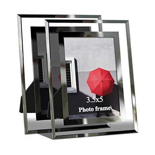 Giftgarden Cornici per Foto 9x13cm Set da 2 Vetro Regalo per Matrimonio Trasparente
