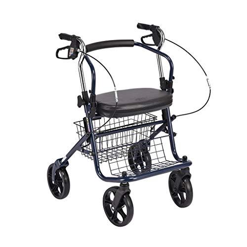 BFQY FH Alter Mann-Laufkatze, Kann Den Alten Einkaufswagen Nehmen/Lebensmittel-beweglichen Faltenden Wanderer/Krücken-Rollstuhl/Vierrädrigen Roller Kaufen (Color : A)