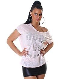 Jela London - T-shirt - Strass - Femme - Taille unique (36 - 42)