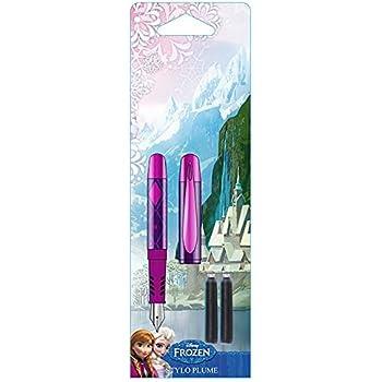 LA REINE DES NEIGES - 1 Set d'un stylo plume avec 2 cartouches d'encres
