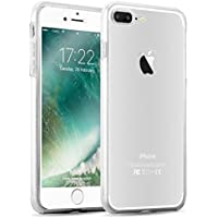 iPhone 8 Plus, iPhone 7 Plus 360 Grad Hülle   JAMMYLIZARD Transparente Schutzhülle [Orbit] Hard Case Backcover + Displayschutz Komplett-Handyhülle, Glasklar