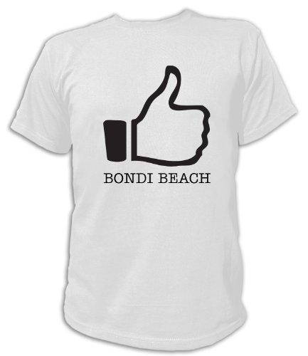 Artdiktat T-Shirt Like Bondi Beach, Unisex, Grösse XXL, weiß
