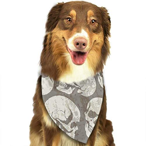Camouflage Skull Triangle Bandana Schals Accessoires für Katzen und Hunde - Geschenke (Skull Plaid Kostüm)