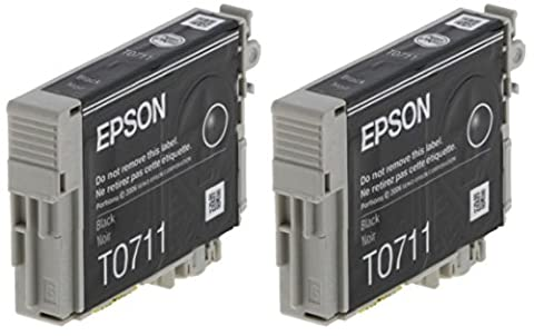 Epson T0711Original Tintenpatronen schwarz in Folie Verpackung (Pack FO 2)