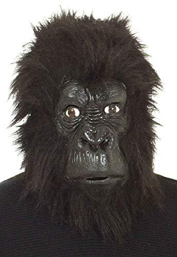 0 schwarz AFFE Affen Gorilla Uberziehmaske Maske Einheitsgröße ()