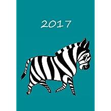 Kalender 2017 - Mein Zebra - Petrol: DIN A5 - 1 Woche pro Doppelseite