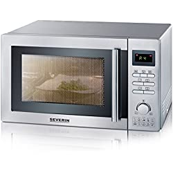 Severin M W7868 Micro onde avec grill/fonction d'air chaud 900 W en Acier Inoxydable