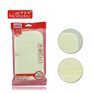 Generic 2 pcs face wash sponge magic facial puff beauty makeup pearl face flutter natural cleansing tools slippery smooth soft whitening