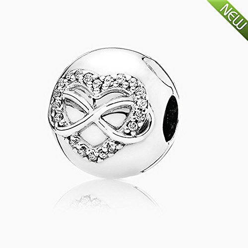 PANDOCCI 2016 Herbst Schmuck Infinity Herz Clips Perlen Authentic 925 Sterling Silber Charms DIY Schmuck (Charms-infinity Pandora Herz)