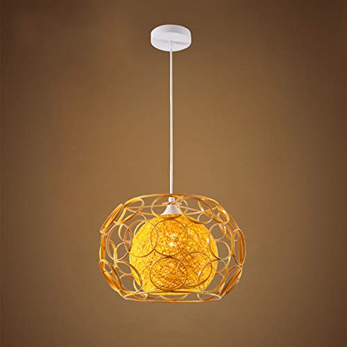 Moderne E27 Pendelleuchte Kreative Kronleuchter Höhenverstellbar Gelb Innen Lampe Dekoration Leuchte Runde Für Esstisch Wohnzimmer Küche Restaurant 25 * 18 * 100 CM - Runde Pub Höhe Tisch