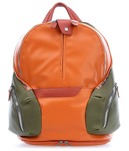 "Piquadro Coleos 13"" Laptop Backpack orange"
