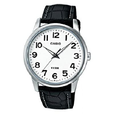 CASIO Collection LTP-1303L-7BVEF de cuarzo, correa de piel color negro (con luz)
