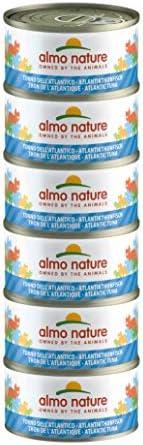 almo nature Megapack Tonno dell'Atlantico - cibo umido per gatti adulti 100% naturale - pacco da 6x70g lat
