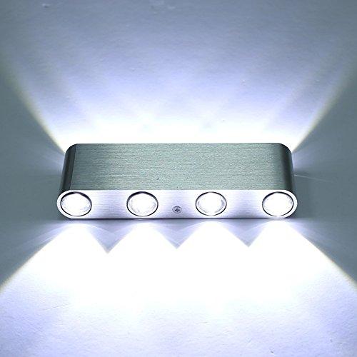 Louvra 8 W LED Wandleuchte Innen Up und Down Wandlampe Modern Wandbeleuchtung 8*Lichtquelle für Wohnzimmer Schlafzimmer Flur Treppenhaus Balkon usw.