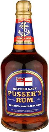 Pussers Blue Label 40 Percent Rum - 700 ml