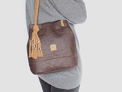 Braune Tasche aus Ananasfaser - Piñatex® - 2