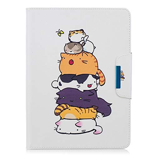 XTstore Samsung Galaxy Tab 4 10.1 Hülle Case, Leder Tasche Flip Cover Schutzhülle Schale Etui mit Standfunktion für Samsung Galaxy Tab 4 10.1 Zoll Tablet SM-T530/T535 - Katze (Auto Schlaf/Wach)