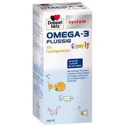 Omega-3 Flüssig 2 x 250 ml Hoher Gehalt an Omega-3-Fettsäuren. Mit wichtigen Vitaminen