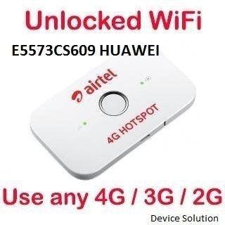 Huawei Airtel Huawai E5573Cs-609 Unlock for All Sim (Default BSNL Sim)