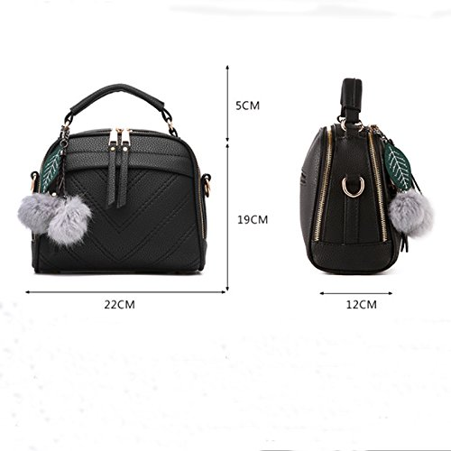 Sacchetto di Hobo del messaggero delle signore della cartella del sacchetto di spalla della borsa della borsa delle donne di modo Nero