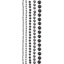 selbstklebende Halbperlen rund 3 mm schwarz