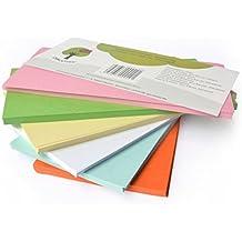 OfficeTree ® Moderationskarten rechteckig 20x9,8 cm - 250 Stk. 6 Farben - unverzichtbar für professionelle Präsentation Gesprächsleitung Moderation - Unterstützung im Unterricht Meeting Büro
