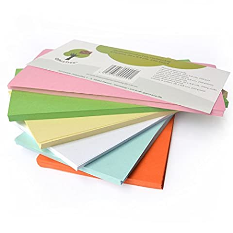 OfficeTree ® Moderationskarten rechteckig 20x9,8 cm - 130 g/qm 250 Stk. 6 Farben - unverzichtbar für professionelle Präsentation Gesprächsleitung Moderation - Unterstützung im Unterricht Meeting (250 Thema)