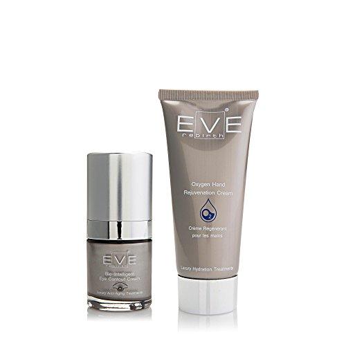 EVE REBIRTH Kit : Soin Anti-Rides Yeux Bio-Intelligent, 15 ml + Crème pour Mains, 100 ml