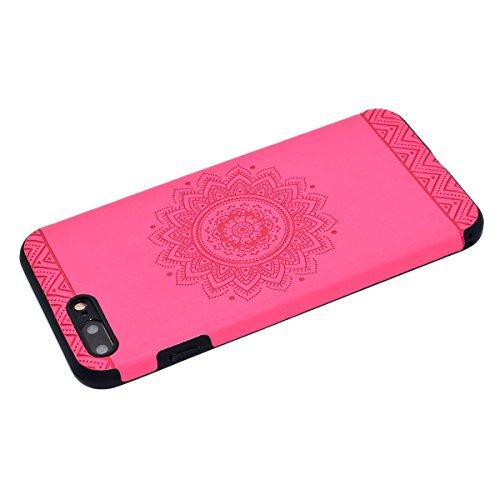 Custodia inShang cover per iPhone 7 Plus 5.5 Cellulare,super slim e leggero TPU materiale Cover posterior stili per iPhone7 Plus 5.5 inch Rose printing