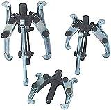 DWT-Germany 100013 Set di 3 pezzi set di cuscinetti puller set di cuscinetti puller set di utensili 2 bracci 75 100 150 mm