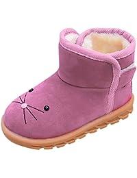 MCYs Kinder Wärme Schneestiefel Mädchen Winterschuhe Baby Rutschfest Stiefel Kleinkindschuhe Weichsohlen Schlupfstiefel