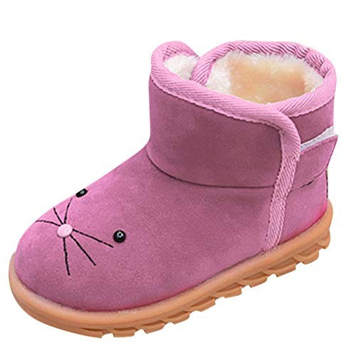 Infant Toddler Girl Boy Slip On Cartoon Winter Thick Shoes Snow Boots Sneakers L
