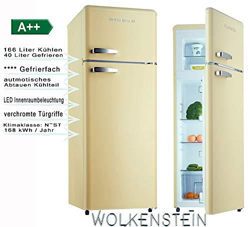 Wolkenstein GK212.4RT SC Kühl-/Gefrierkombination, creme