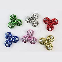 SLB Works Brand New Electroplate Tri Spinner Figet Hand Finger Spin Anti Stress Toy ADHD 360° Spin