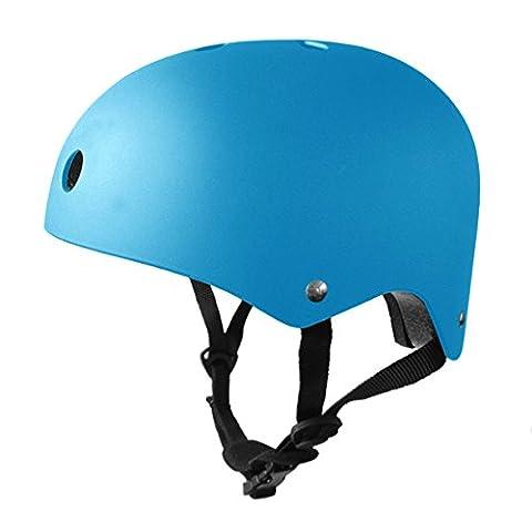 Feral BMX / Bike / Skate / Skateboard / Scooter Helmet (5 Colours) (Blue, 50-53cm)