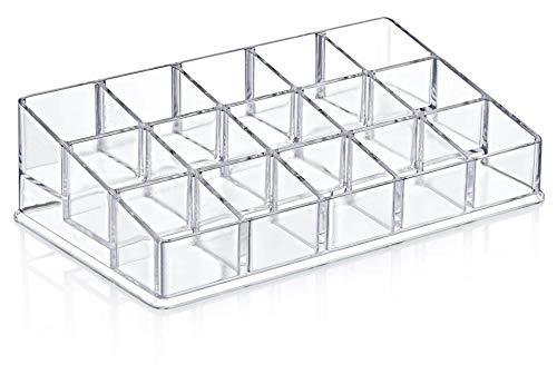 Furany 2er Set Kosmetik Organizer + Schubladen Organizer für Accessoires Make-Up Schminke Aufbewahrung | Einzeln und als Set (1x Nagellack Organizer) - Aufbewahrung Nagellack
