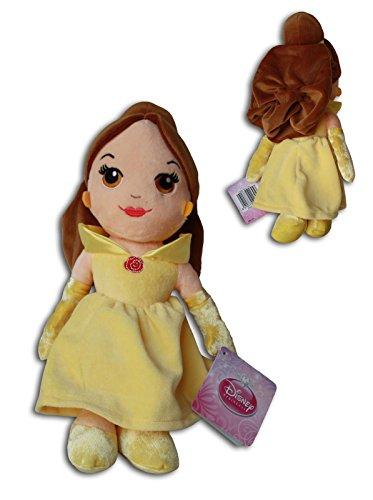 Belle 30cm Plüsch Disney Princess Weich Puppe Die Schöne und das Biest Braune Haare Gelben Kleid
