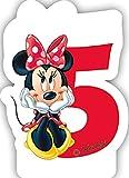 Zahlenkerze 5 * MINNIE MAUS * für Kindergeburtstag // Kinder Geburtstag Party Numeral Birthday Candle Kuchen Deko Motto Disney Mickey Mouse fünf Jahre