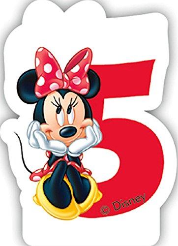 Zahlenkerze 5 * MINNIE MAUS * für Kindergeburtstag // Kinder Geburtstag Party Numeral Birthday Candle Kuchen Deko Motto Disney Mickey Mouse fünf Jahre (Mickey Geburtstag Zahl)