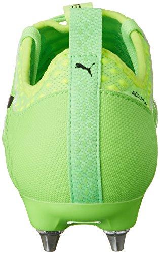 Puma Evopower Vigor 2 MX SG, Chaussures de Football Homme Vert (Green Gecko-puma Black-safety Yellow 01)