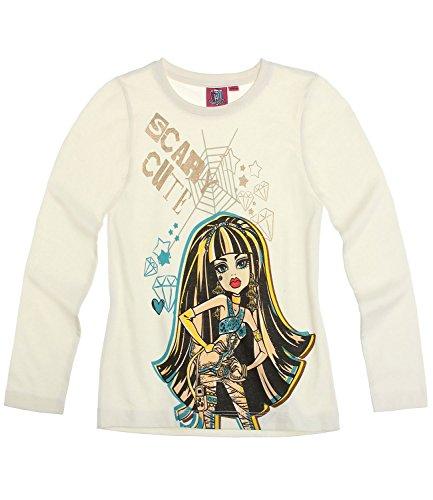 Monster High Mädchen Langarmshirt - weiß - 152