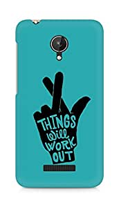AMEZ things will work out Back Cover For Micromax Canvas Spark Q380