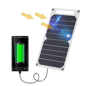 Zuukoo Cargador Solar portátil, Panel Solar de 5V 22W con Puertos USB Dobles a Prueba de Agua Plegable para teléfonos Inteligentes, tabletas y Viajes de Camping