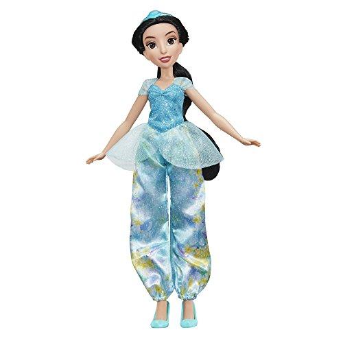 Hasbro E0277ES2 - Disney Prinzessin Schimmerglanz Jasmin, Puppe (Kostüm Für Barbie Puppen)