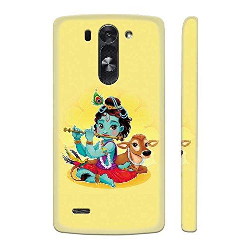 YuBingo Hard Plastic Mobile Case for LG G3 Beat   Krishna   Designer Printed Back Cover   Waterproof   Slim   Light
