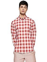 Indian Terrain Men's Checkered Regular Fit Cotton Casual Shirt